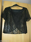 Ladies New Dorothy Perkins Black Lace Top Size-6-8-10-12-14