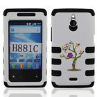 For Huawei Ascend Plus H881C Valiant Y301 Tuff Shield Hybrid Rubber Case Cover