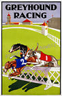 Vintage Greyhound Racing Art ad print poster, large 4 sizes available