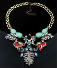 Fashion Metal Statement Necklace Chunky Bib Pearl Pendant Bead Collar Big Flower