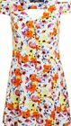 Miss Selfridge petite tropical floral button up cut out tea dress 6 8 10 12 14