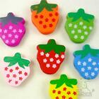 10/50pcs mixed colors strawberry wood flatback/Button 24x20MM embellishment