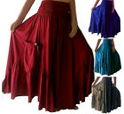 @Q456  SKIRT DRESS RUFFLED POCKETS ELASTIC WAIST ART CHARMING RAYON MADE 2 ORDER