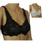 Ladies Marlon Underwired Black or White Pretty Lace Bra 34-44 B-DD Womens New