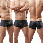 Fashion Sexy Men's Underwear Leather Briefs Trunks Boxer Shorts Underpants#C6