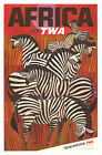 Vintage Africa TWA  Airlines travel print poster, large 4 sizes available