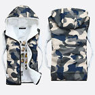 New Men's Warm Cotton-Padded Hooded Camouflage Vest Thicken Jacket Coat Outwear