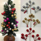3 x Glitter Ball Picks *Ideal For Christmas Tree Decorations*