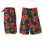 MENS NAVY FLORAL PRINT BOARD SHORTS FROM OCEAN PACIFIC BNWT RRP£19.99