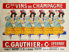 Vintage Champagne advertisement print poster, 4 sizes available