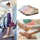 Womens Ladies Vintage Stitching Lace Up Flat Brogue Shoes Plus Size A-7-1