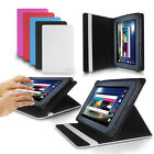 """LUXFOLIO STAND LEATHER CASE WALLET FOR ALDI MEDION LIFETAB 7"""" TABLET E7318"""