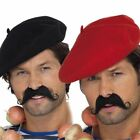 French Fancy Dress Costume Accessory – Frenchman Red / Black Beret Hat French
