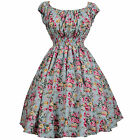 Vintage Dancing Party Dresses Retro Rockabilly Swing Jive Skirt 50's 60's Floral