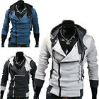 US STOCK CHEAP FASHION Mens Stylish Casual Side Zip Hooded Jackets Coats Hoodies