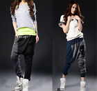 Woman Casual Loose Baggy Crotch Collapse hip Hop Haram Pant Collage Trousers