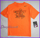 NIKE TOP SHIRT BOYS MIAMI UNIVERSITY HURRICANES SZ 4 5 6 7 ORANGE NEW