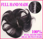 FULL HAND Made Hair piece toupee hairpiece 100% Real natural human hair unisex A