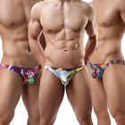 Brand Sexy Men's Briefs Cotton Underwear Printed Jockstrap Empty Back Underpants