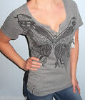 NWT Sexy Black FOX RACING RIDERS Black LACE BUTTERFLY T Shirt Top TEE XS S M L