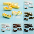 10g Iron Ball Chain Connector End Closure Clasps Wholesale Lots 2x5mm 8.5x3mm