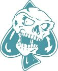 "* Evil spades skull vinyl decal sticker 5"" x 6"" car truck and mirror new"