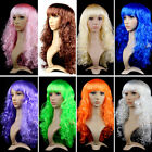 Women Masquerade Wigs Halloween Color Cosplay Long Wavy Wig Christmas Hairs NA53