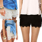 Fashion Sexy Womens Crochet Lace Skirts Skort Shorts Culotte Pants 10 12 14 16 J