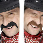 Cowboy Tash - Mens Cowboy Fancy Dress Costume Moustache Wild West Accessory