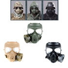 M04 Airsoft Paintball Dummy Gas Mask w/ Fan CS Cosplay Protection Gear Face Mask