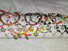 Various Peace Sign CND bracelets, fully adjustable, hippy boho great great gift