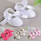 Baby Girls Soft Cloth Sole Toddler Shoes Skidproof Infant Lace Bow Ties Autumn