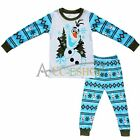 NEW Boys Frozen Olaf Long Sleeve Cotton Pyjamas Sleepwear Pjs Clothes Size 2-7