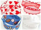 3m/6m/12m Wire Edged Valentine Heart Party Gift Wrap Floral Ribbon 38mm 63mm