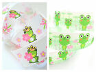 3m/6m/12m Princess Frog Froggy Cartoon 22mm Grosgrain Party Arts Crafts Ribbon