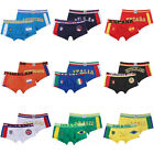 Youthful 9 Style Sexy Sport Cotton Boxer Men/Boy Muscle Country Flag Underwear