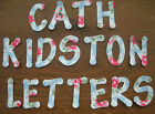 CATH KIDSTON FABRIC IRON ON  LETTERS & NUMBERS x 14. APPLIQUE, ALPHABET
