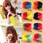 1X Women Colorful Wide Sports Yoga Headband Stretch Hairband Elastic Hair Band