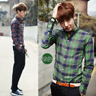 Special Design  Mens  Plaid Luxury Casual Slim Fit Stylish Dress Shirts Hot Sale