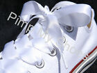 White Pink Black Red Yellow Lime Silver Purple Ribbon Shoe Laces For Converse AG