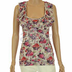 Ladies ex Republic Miso Multicoloured Floral Print Ruffle Stretch Top New Womens