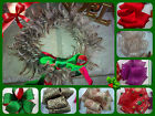 Christmas Wired Ribbon Glitter Gift Cake Tree  Decorations 1m FREEPOST