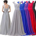 Wedding Party Formal Prom Gown Long Cocktail Bridesmaid Evening Dress Grey 6- 20