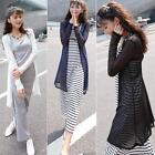Great Lady 2 Colors See Through Sheer Mesh Long  Sleeve Tee Oversize Tops Coat