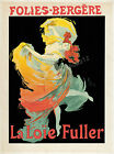 Vintage French Folies-Begere ad print poster, large 4 sizes available