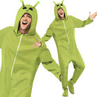 Adult Alien Costume Green Alien Onesie for Funny / Halloween Fancy Dress