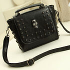 New Fashion Punk Skull Rivet Handbags Women Leather like Shoulder Messenger Bag