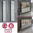 CHROME SINGLE FLAT PANEL COLUMN VERTICAL HORIZONTAL MODERN DESIGNER RADIATOR