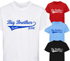 PERSONALISED BIG BROTHER SINCE DESIGNER T-SHIRT TSHIRT KIDS CHILDRENS AGE 1 - 12