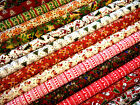 Christmas Poly Cotton Fabric Fat Quarter, many designs, mix & match